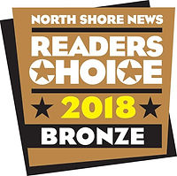 North Shore News Readers Choice 2018 Bronze