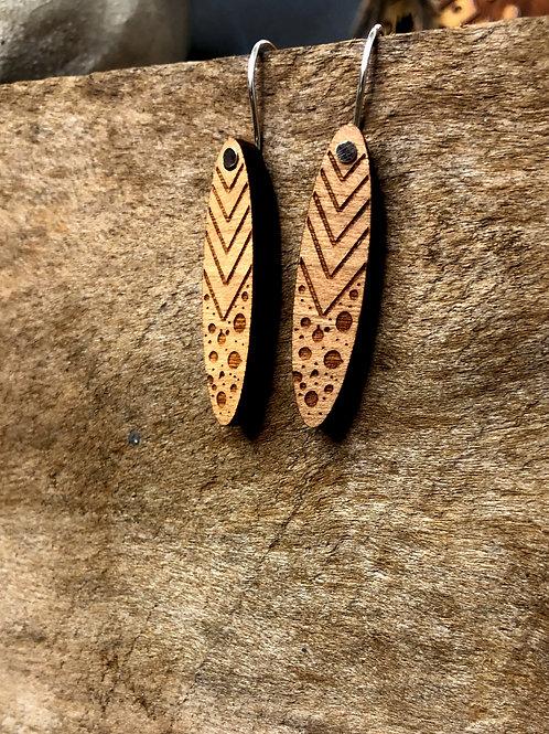 lil shield earrings