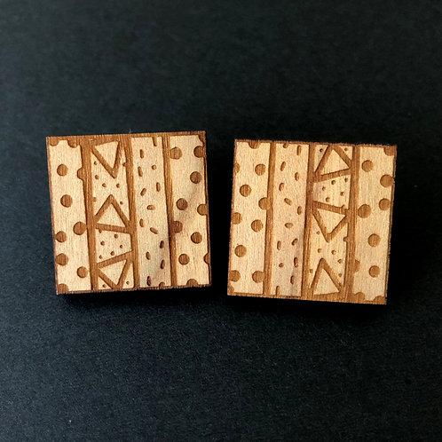 lil square earrings