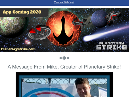 March Personal Note from The Creator of Planetary Strike