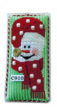 C910 Red Scarf Snowgirl