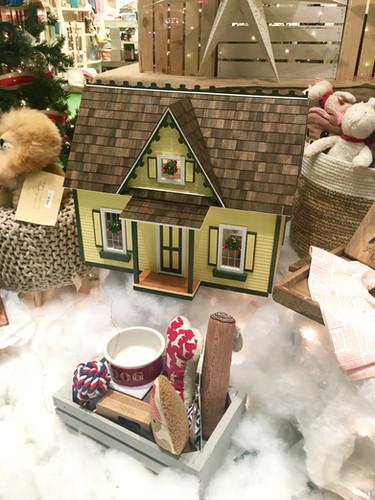 Custom dollhouse made for the window.