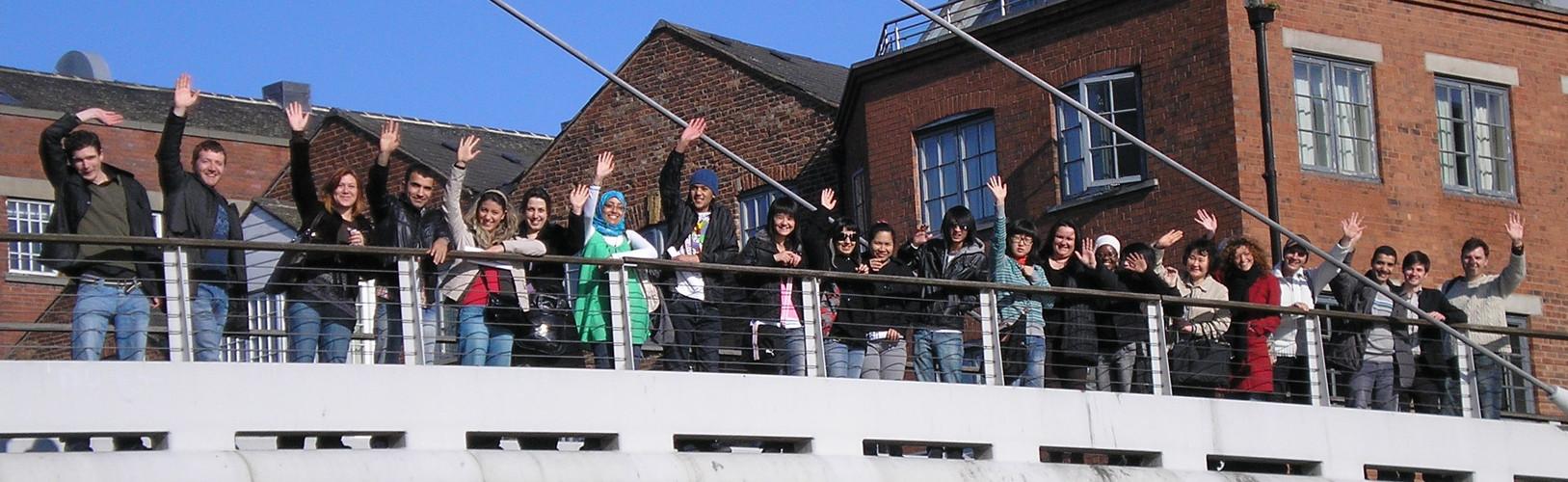 students on bridge.JPG
