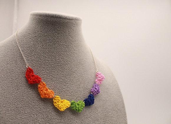 Rainbow Hearts Necklace