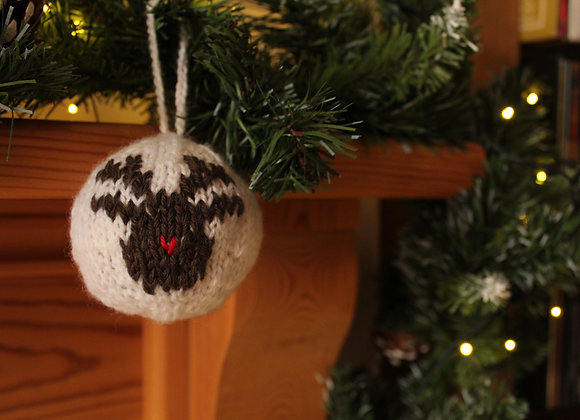 Novelty Rudolph Knitted Bauble