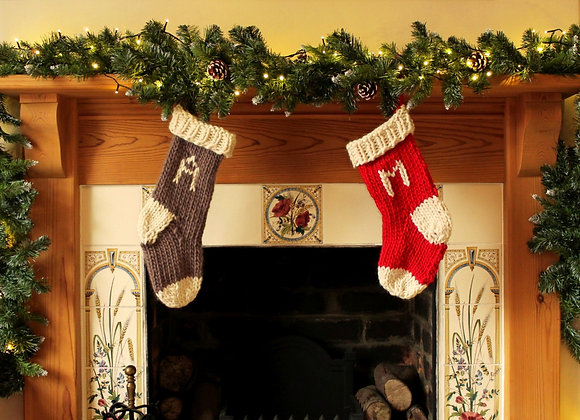 Standard Hand Knitted Christmas Stocking
