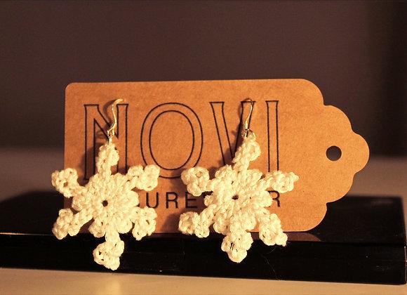 Mini Snowflake Sterling Silver Earrings