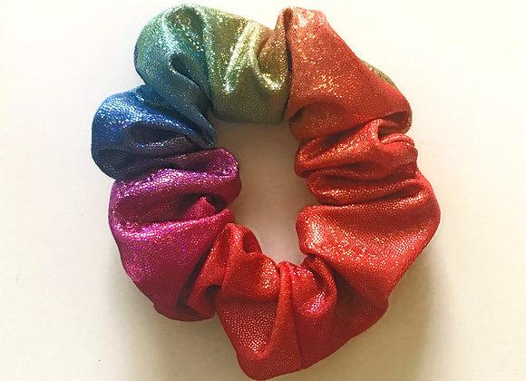 Rainbow Sparkle Scrunchie