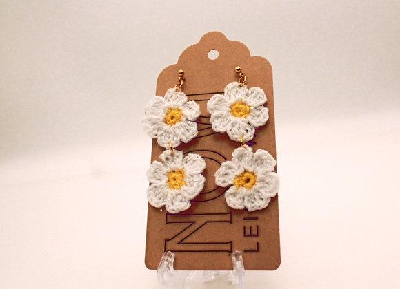 Mini Double Daisy Earrings