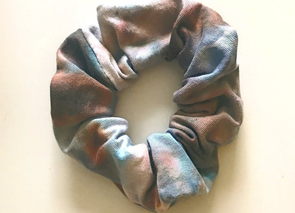 'Rusty Blues' Hand Dyed Scrunchie