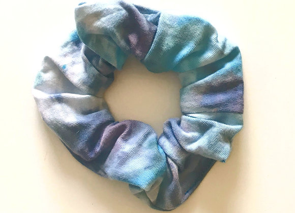 'All the Blues' Hand Dyed Scrunchie