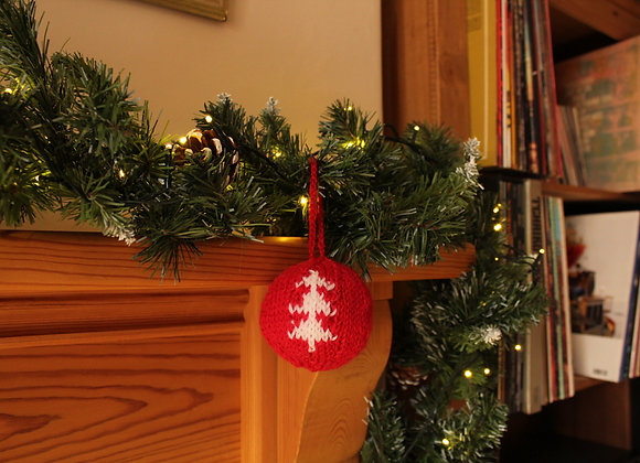 Classic Tree Knitted Bauble