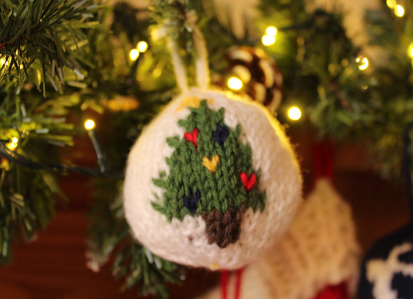 Novelty Christmas Tree Knitted Bauble