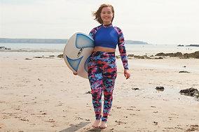 Surfseeker Print High-Waisted Leggings