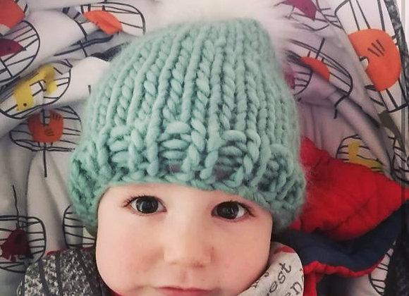 The Snug Baby Beanie with Faux Fur Pom-Pom