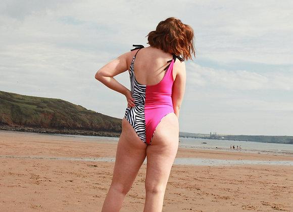 Freshwater Reversible Shoulder Tie Swimsuit