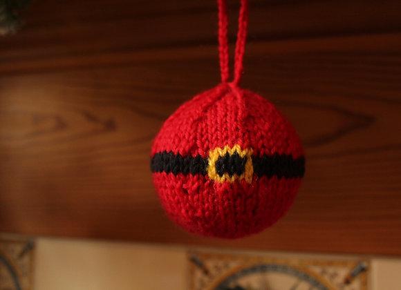 Ho Ho Ho! Novelty Knitted Bauble