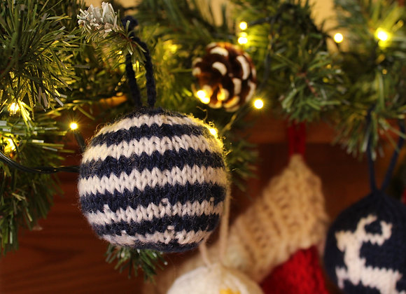 Classic Striped Knitted Bauble