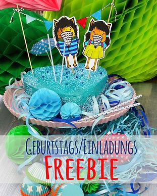 Freebie Geburstag Party Kindergeburtstag