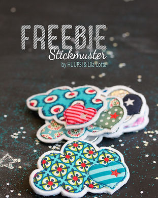 Wolke Freebie Stickmuster by Lila-Lotta
