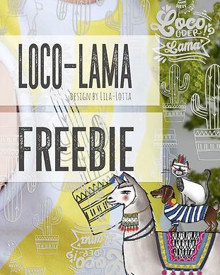 Lama Freebie Plotterserie  Lila-Lotta