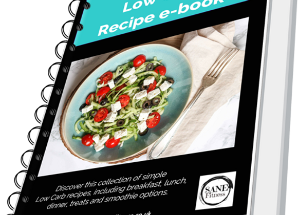 Sane Low Carb Recipe E-Book