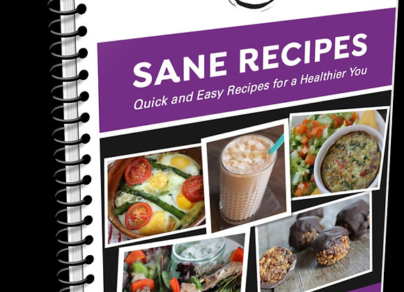 Sane Recipes - 21 healthy recipes- ebook