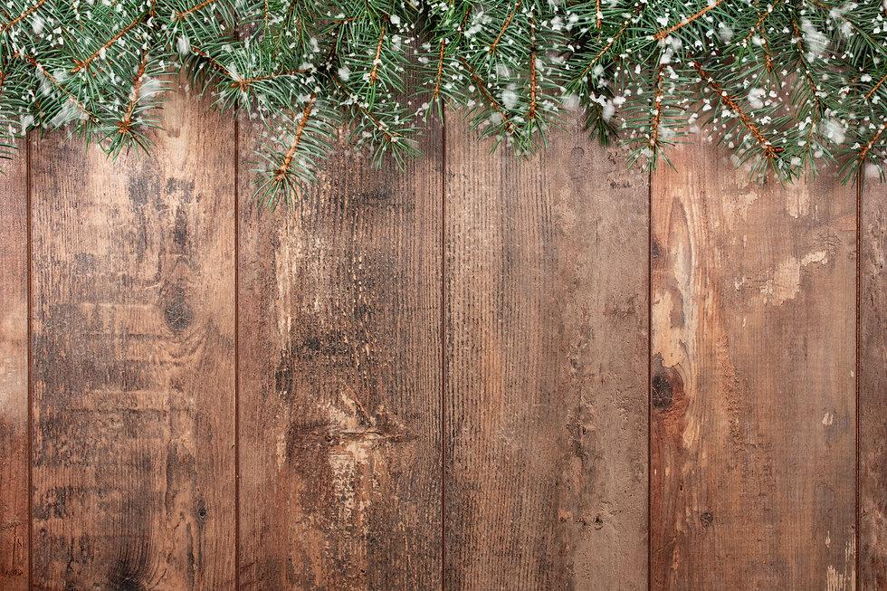 Christmas background. Old wood backgroun