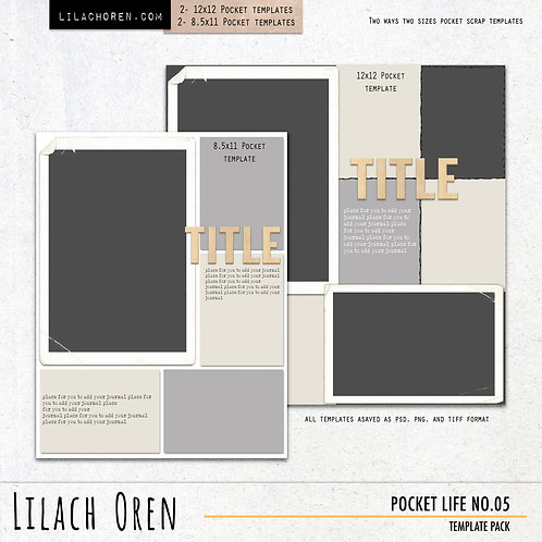 Pocket Life Template pack No.05