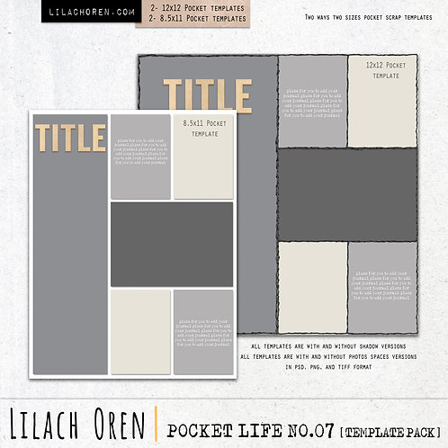 Pocket Life Template pack No.07