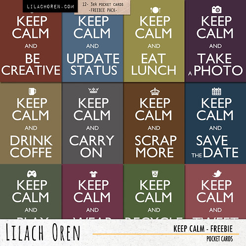 Keep Calm Pocket Cards - FREEBIE