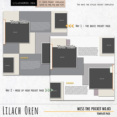 Mess The Pocket Template Pack No.03