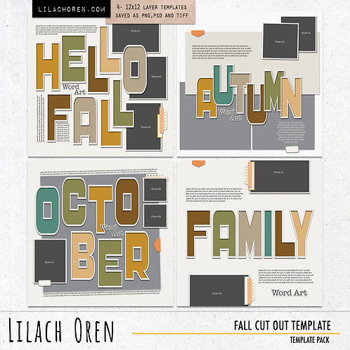 Fall Cut Out Template Pack by Lilach Oren