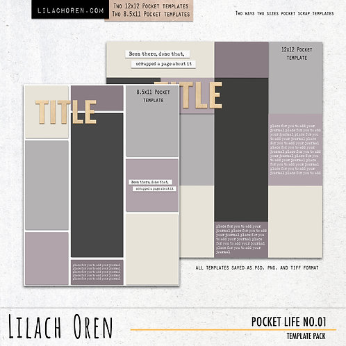 Pocket Life Template pack No.01
