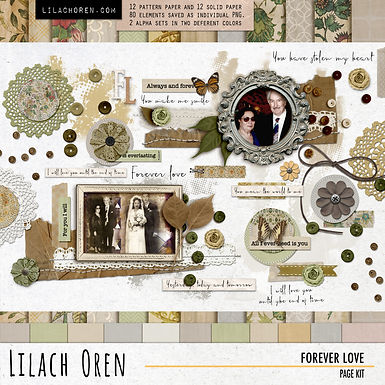 Forever Love Page kit