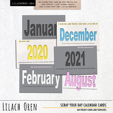 Scrap Your Day Calendar Cards