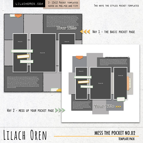 Mess The Pocket Template pack No.02