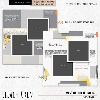 Mess The Pocket Template Pack No.04