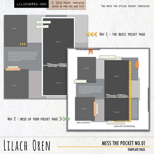Mess The Pocket Template pack No.01