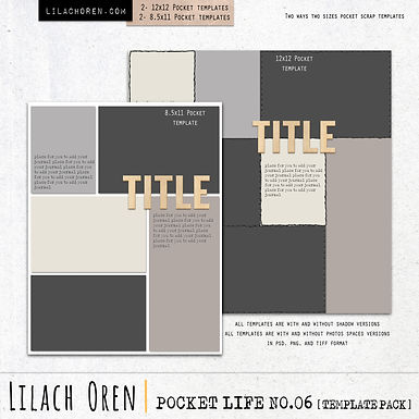 Pocket Life Template pack No.06