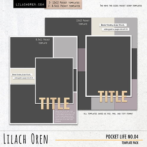 Pocket Life Template pack No.04