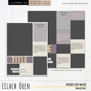 Pocket Life Template pack No.02