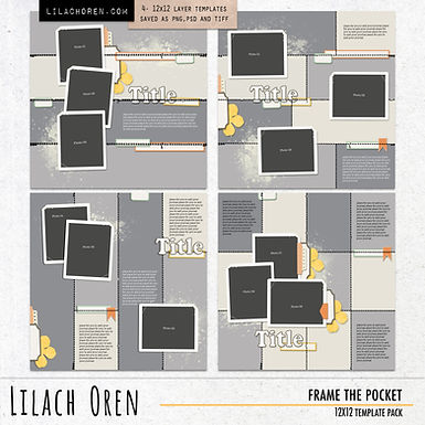 Frame The Pocket Template Pack No.01 by Lilach Oren