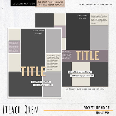 Pocket Life Template pack No.03
