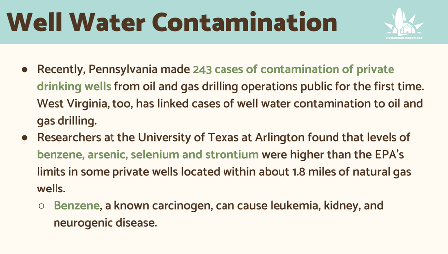 Well Water Contamination