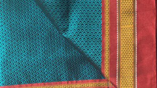 Maharashtrian Khan/khun fabric saree