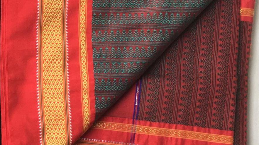 Maharashtrian Khun/khan fabric saree