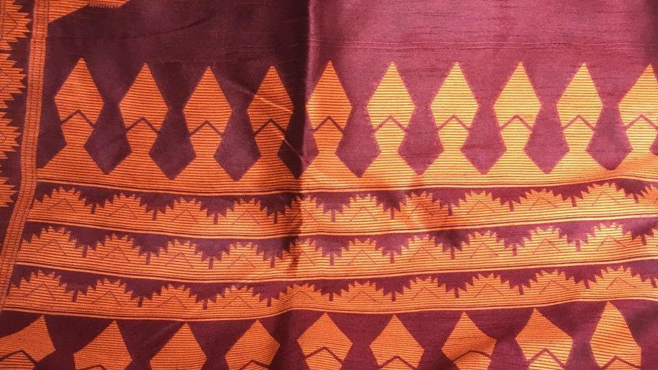 Cotton raw silk saree