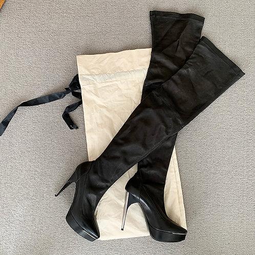 LANVIN Leather Boots Size 38EU