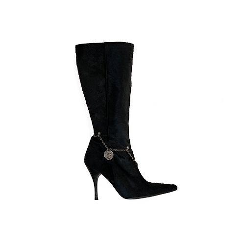 ROCCOBAROCCO Pony Skin Boots, Size 37 EU